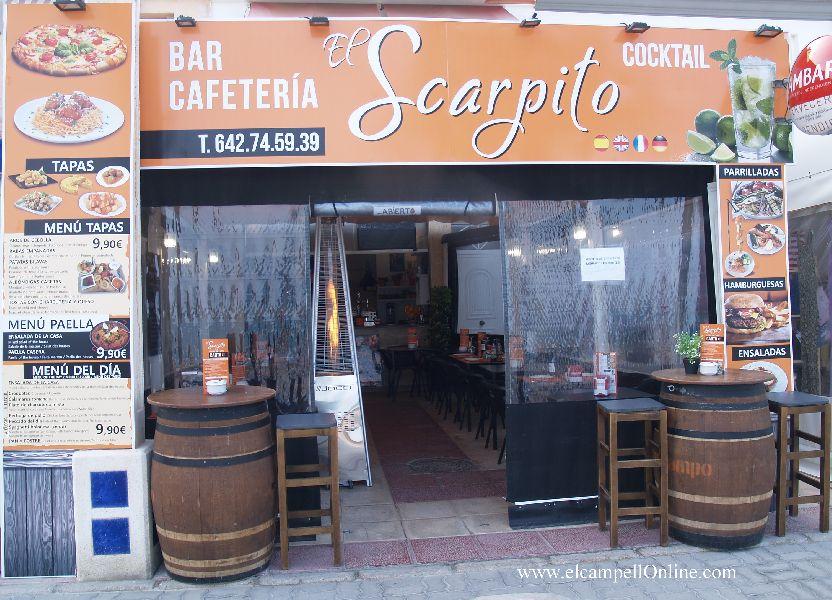 EL SCARPITO, Restaurante-Bar-Cafetería